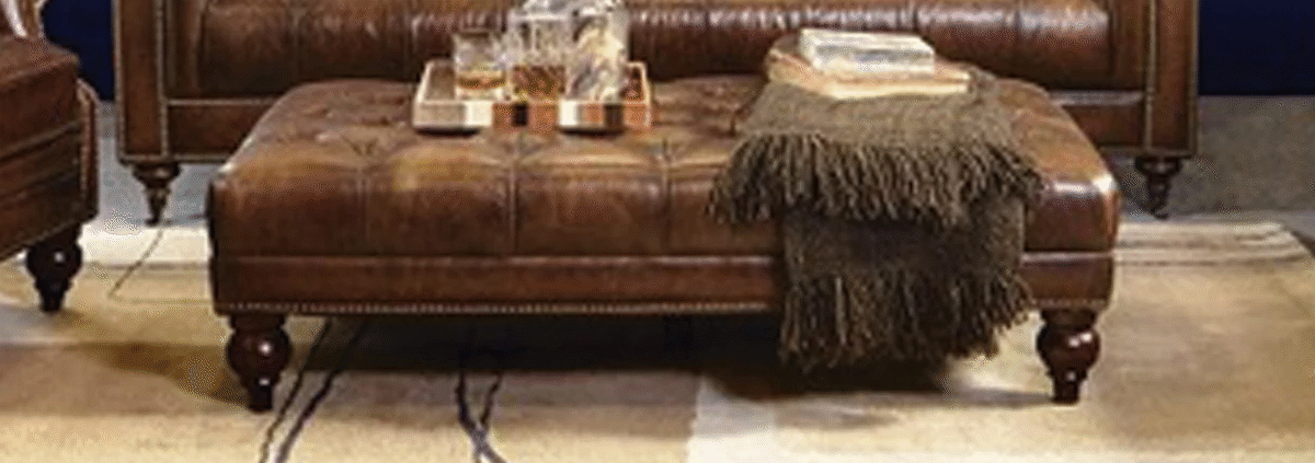 Leather Footstools